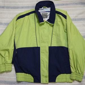 VTG FLEET STREET Lime/Mavy Colorblock Jacket